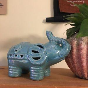 Anthropologie Accents - Ceramic Aromatherapy Elephant